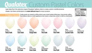 Qualatex Balloons Color Chart 19 Punctilious Qualatex Balloon Chart