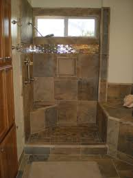 Custom Bathroom WGranite Slab Counter Cascading Faucets