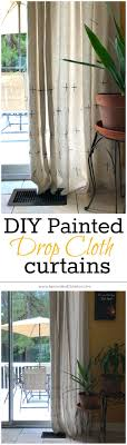 Paint Drop Cloth Curtains The 25 Best Drop Cloth Curtains Ideas On Pinterest Drop Cloth