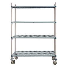 metro max q polymer posts shelving mobile kit 4 shelves 1880x1220x610mm