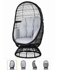 b q metal egg swivel chair would love this sitting on my decking