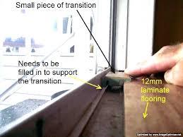 flooring thresholds transitions installing laminate flooring transition at sliding glass door