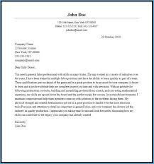 General Cover Letter Resume Inspiring General Cover Letter Sample Which You Need To Make