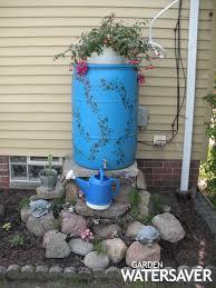 barrel garden. A Decorative Rain Barrel Garden