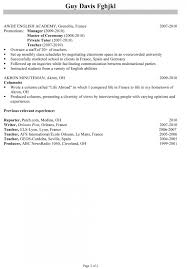 Teacher Resume Templates Microsoft Word 2007 Simple Example