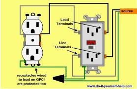 wiring gfci receptacles in series data wiring diagrams \u2022 split outlet wiring diagrams gfi receptacle thefavorite rh thefavorite info outlets in series wiring diagram wiring plugs in series