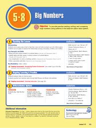 Lesson 5 8 Big Numbers Manualzz Com