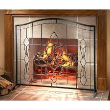 fresh fireplace glass screen for magnificent modern fireplace
