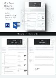 Pages Cv Template One Page Resume Apple Thekindlecrew Com