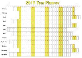 2015 Year Planner In English Annual Calendar For Year 2015 Royalty