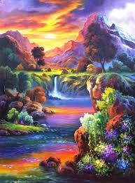 new oil paintings hand painted picture on canvas modern wall painting acrylic paintings illusion landscape hang pictures craft in painting calligraphy
