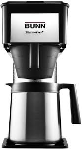 Speed brew coffee makers can brew 10 cups of coffee in about 4 minutes because they store hot water in a stainless steel commercial grade tank allowing them to brew coffee on demand. Amazon Com Bunn Bt Bt Speed Brew 10 Cup Thermal Carafe Home Coffee Brewer Black Drip Coffeemakers Kitchen Dining