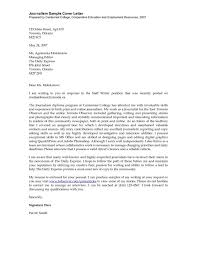 Journalism Cover Letter Writing Tips Samples For Students Egmn