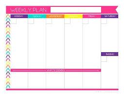 Free Printable Weekly Planner Editable Template Blank Calendar Word