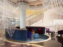 cosmopolitan las vegas lobby bar chandelier curtain