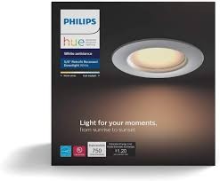 Phillips Hue Recessed Light Philips Hue White Ambiance Dimmable Led Smart Retrofit Recessed Downlight 5 Inch 6 Inch Hue Hub Required Works With Alexa Homekit Google