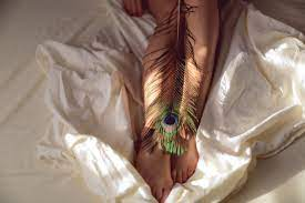 Lord Krishna Peacock Feather With Flute ...