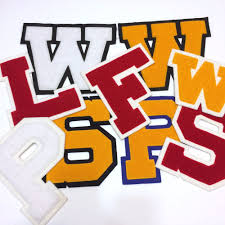 details about varsity letter patch for letterman jacket letter patches w p s f l w new