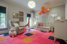 View in gallery Colorful and classy nursery in pink and gray Design Blu  Sky Living