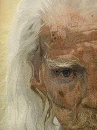 IQF portrait quilts, part 6 | Maria Elkins & Wisdom (detail) by Jennifer Day Adamdwight.com