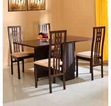 gypsy 4 seater dining set home by nill dark walnut