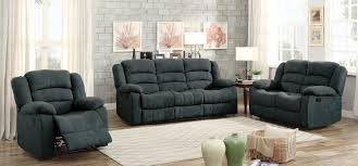 Reclining Living Room Furniture Sets Homelegance Greenville Reclining Sofa Set Blue Grey 8436gy Sofa