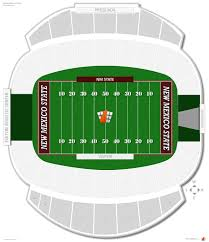 University Of New Mexico Football Stadium Seating Chart Aggie Memorial Stadium New Mexico State Seating Guide