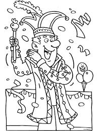 Prinsenmuts Kleurplaat Prins Carnaval Carnaval Kleurplaten