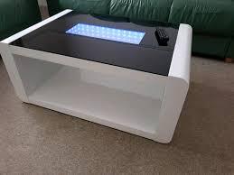 led white black high gloss infinity coffee table