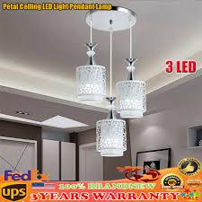 us 3 lights modern petal ceiling light