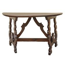 small demilune hall table. Black Painted Color Mahogany Demilune Hall Console Table With Carving Legs Ideas Small