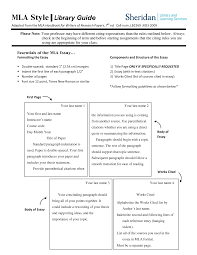 Sheridan Library Mla Style Guide Eng17889gd Composition And