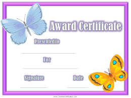 certificates of completion for kids free certificates for kids certificate templates