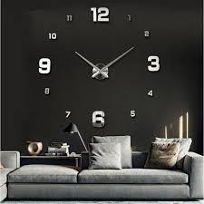 whole special large diy quartz 3d wall clock living room big acrylic watch mirror stickers modern design home decor h1 best wall clocks best wall clocks