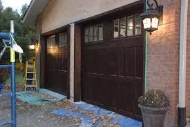 real wood garage doors uh no painted metal