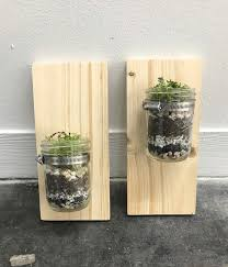 ... finished set of wall mounted mason jar planters pop shop america diy