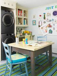Laundry room office design blue wall Basement Craft Room Laundry Room Decorpad Craft Room Laundry Room Transitional Laundry Room Bhg