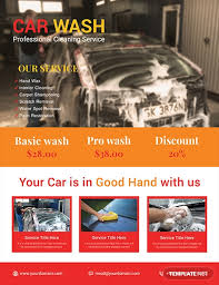 Make A Free Flyers 10 Free Car Wash Flyer Templates Download Ready Made Template Net