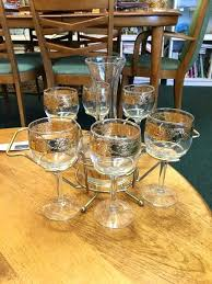 wine glass caddy carafe with six glasses in carrier bathtub holder uk decanter