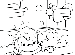 Printable Curious George Coloring Pages Printable Curious Coloring