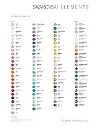 Swarovski Crystal Pearl Color Guide Images