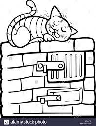 Domestic Cat Comic Stock Vector Art Illustration Vector