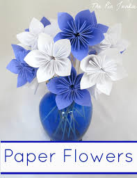 Paper Folded Flower Paper Origami Flowers The Pin Junkie