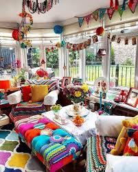 colorful apartment decor bohemian chic