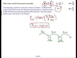 work power and efficiency sample physics problem  work power and efficiency sample physics problem