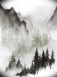 фото эскиз тату горы 23072019 040 Sketch Of A Mountain Tattoo