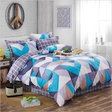 whole 100 cotton stripes plaid triangle geometric pattern duvet cover bed sheet set green pink gray black white blue bedding set king comforters duvet