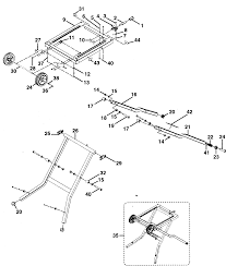 Craftsman table saw stand assy parts