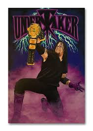 Maybe that last pic was taken less because the undertaker is a fan of the new york knicks and more so because he is simply a fan of enes kanter himself. Tamatina Wall Poster Wrestling Poster The Undertaker Fan Art Wwe Laminated Tearproof Hostel Living Room Size 45 X 30 Cms Hm Amazon In Home Kitchen
