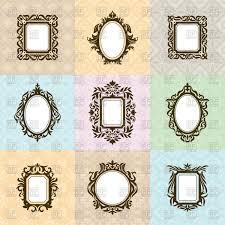 vintage mirror clipart. set of vintage mirror frames vector clipart clipart c